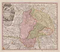 Tablou canvas map of transylvania, 1720 (2)
