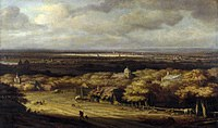tablou philips koninck - panoramic landscape (1670)