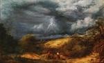 tablou john linnell - the storm (the refuge)