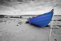 Tablou canvas barca (23) bicolor, albastru