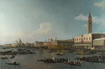 Tablou canaletto - venice the basin of san marco on ascension day (2) (1740)