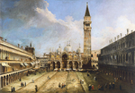 Tablou canaletto - the piazza san marco in venice