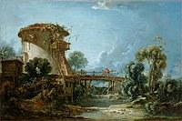 tablou francois boucher - landscape (1758)