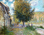 Tablou canvas claude monet   banks of the seine at lavacourt, 1878