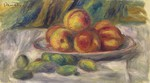 tablou renoir - still life - peaches and almond