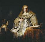 tablou rembrandt - artemisia (1634)
