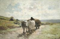 tablou Nicolae grigorescu - car cu boi (2)