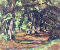 tablou paul cezanne - the undergroth, 1885