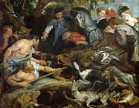 tablou rubens - hunting for wild boar