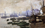 tablou claude monet   boats in the port of london, 1871