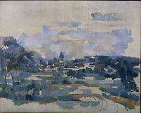 tablou paul cezanne - turning road, 1905