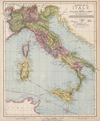tablou Harta zona vinului, Italia, 1889