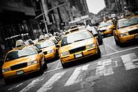 Tablou canvas new york, taxi, bicolor (6)