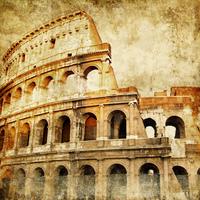 tablou colosseum, vintage (1)