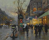 Tablou canvas cortes - paris boulevard