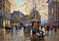 Tablou canvas cortes - paris de fragment town square madeleine