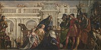 tablou paolo veronese - the family of darius before alexander