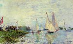 tablou claude monet   regatta at argenteuil, 1874