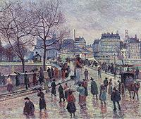 tablou maximilien luce - paris, le pont  l`archeveche, 1896