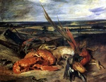tablou delacroix, eugene - still life with lobsters