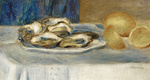 tablou renoir - still life with lemons and oysters, 1900