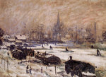 Tablou canvas claude monet   amsterdam in the snow, 1874