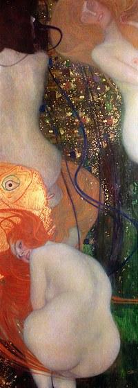 tablou Gustav Klimt - goldfish (1901)