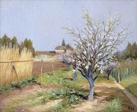 tablou marcel dyf - orchard in bloom