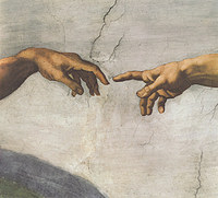 tablou michelangelo - the creation, sistine chapel (detail)