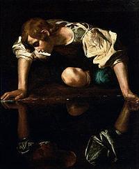 tablou caravaggio - narcissus (1594)