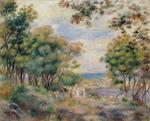 tablou renoir - landscape at beaulieu, 1899