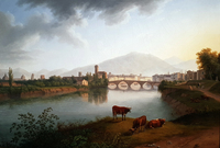 tablou jacob philipp hackert - view of pisa