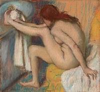 tablou edgar degas - woman wiping leg, 1885