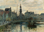 tablou claude monet - the bridge in amsterdam, 1874