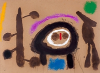 tablou joan miro - oiseaux, composition