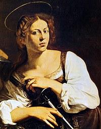 tablou caravaggio - santa caterina d'alessandria (detail)