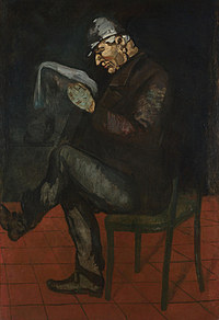 tablou paul cézanne - the painter's father, louis auguste cézanne