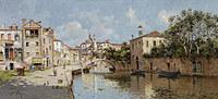 tablou antonio maría reyna manescau - venetian canal