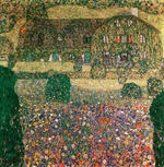 Tablou canvas Gustav Klimt - cabana in atterse