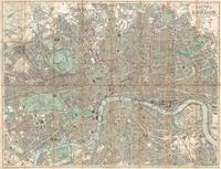 tablou Harta antica london, england, 1890
