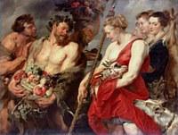 tablou rubens - diana returning from hunt (1615)