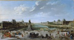 tablou ragne nicolas jean baptiste - view of paris from the new bridge, 1763