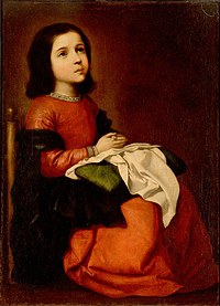 tablou francisco de zurbaran - childhood of the virgin mary (1660)