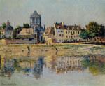 Tablou canvas claude monet   by the river at vernon,1883