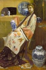 tablou james abbott mcneill whistler  the lady of the lang lijsen