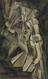 tablou marcel duchamp - nude descending a staircase