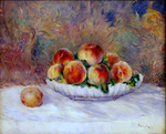 tablou renoir - still life with peaches, 1881 82