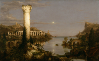 tablou thomas cole - the course of empire, desolation, 1836