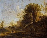 tablou jan dirksz both - italian landscape (1637)