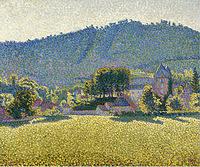 tablou paul signac - comblat le chateau. the valley, 1887